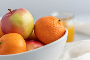 Picture of fruit on a table