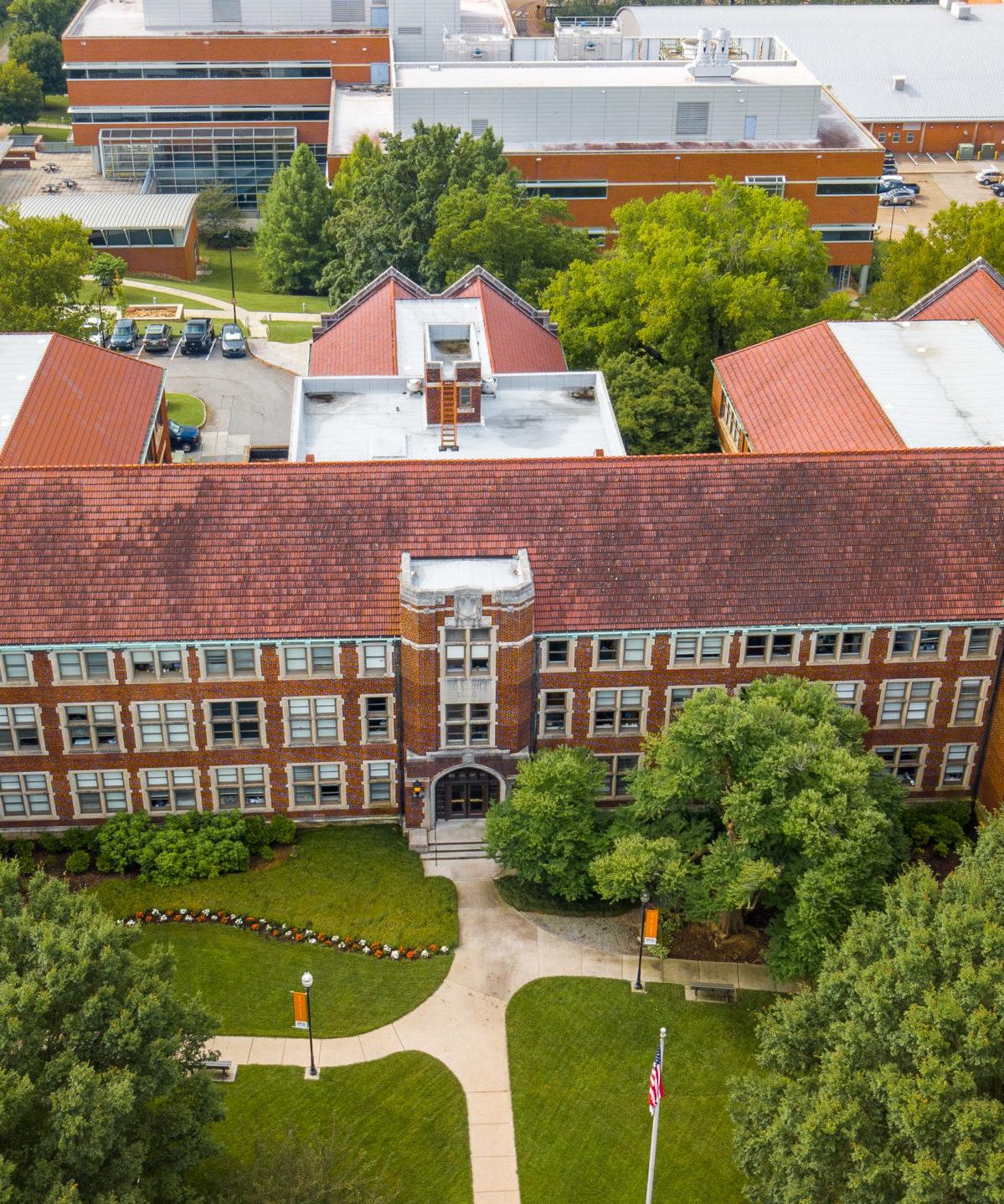 Aerial View of Morgan Hall