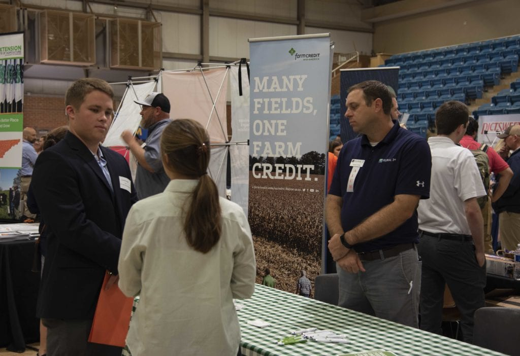 Students engaging with employers at the Herbert College Career Fair